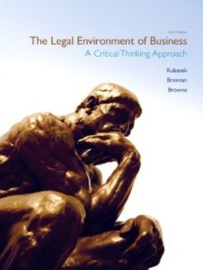 Test bank for The Legal Environment of Business 6th Edition by Kubasek