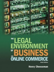 Test bank for The Legal Environment of Business and Online Commerce 6th Edition by Cheeseman