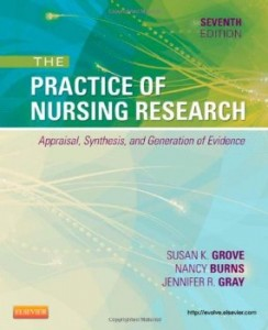 Test bank for The Practice of Nursing Research Appraisal Synthesis and Generation of Evidence 7th Edition by Grove