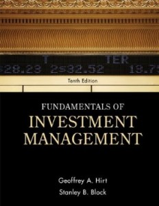 Testbank for Fundamentals of Investment Management 10th Edition by Hirt